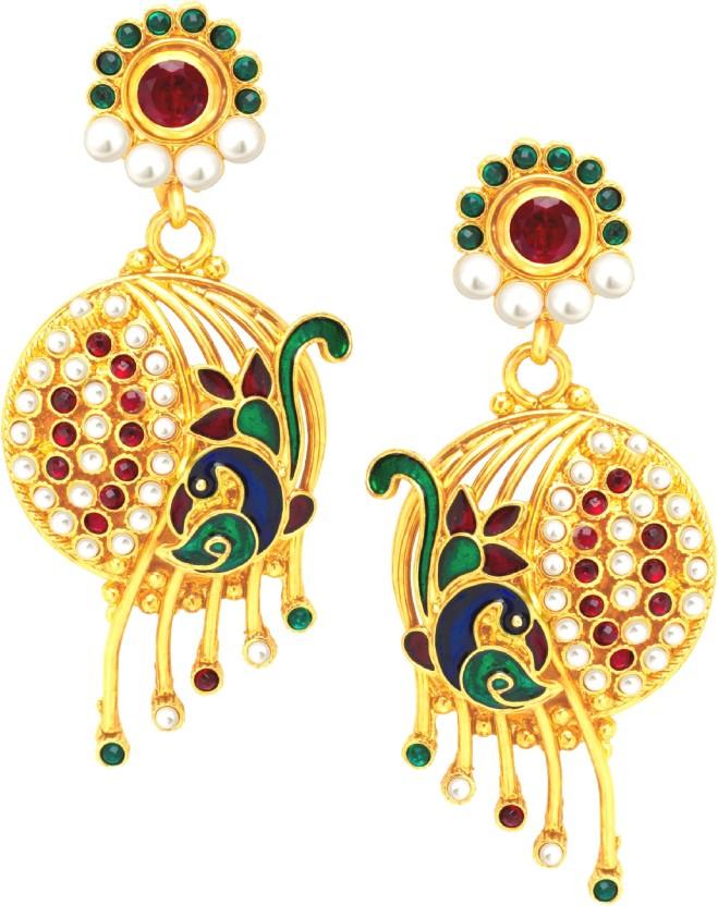 Divastri Fabulous Mayur Alloy Drop Earring