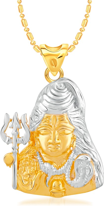 VK Jewels Shiva 18K Yellow Gold Alloy Pendant