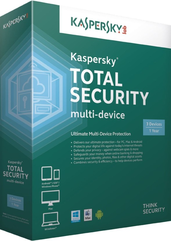 KASPERSKY TOTAL SECURITY 3 PC 1 YEAR