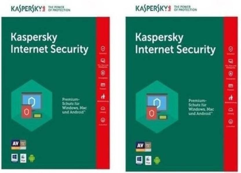 KASPERSKY Internet Security 2016 2 Pc 1Year- 2 Installation Cds & 2 Serial Keys, Every key 365 days valid New Slim Pack