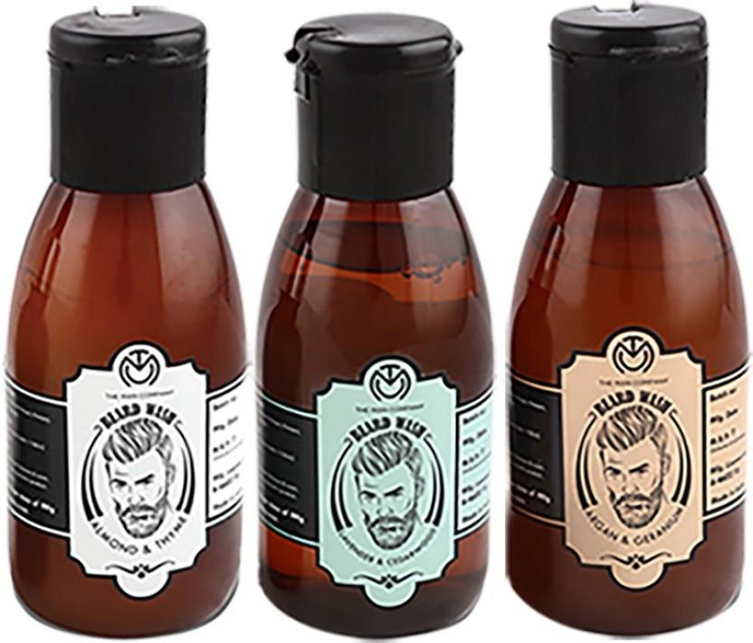 The Man Company Premium Beard Wash Combo (Set of 3) - Almond & Thyme (100ml), Lavender & Cedarwood (100ml), Argan & Geranium (100ml)