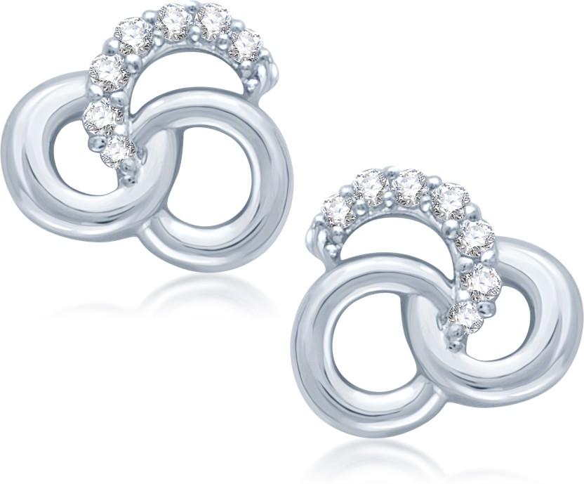 Meenaz TOPS Cubic Zirconia Brass Stud Earring