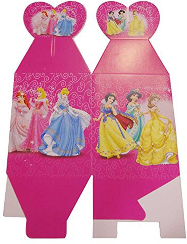 PARTY PROPZ Multicolor PRINCESS BIRTHDAY DECORATION/ POPCORN BOX SET OF 10/ PRINCESS PARTY SUPPLIES - 10 g