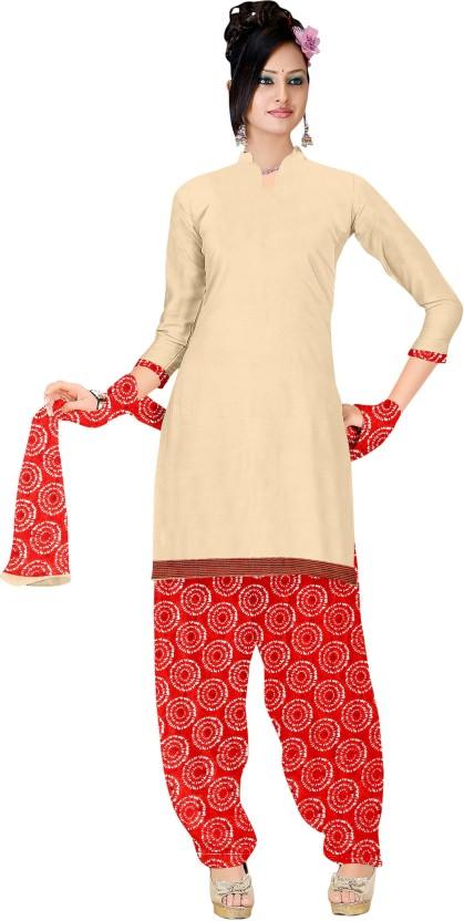 Divastri Cotton Linen Blend Embroidered Semi-stitched Salwar Suit Dupatta Material