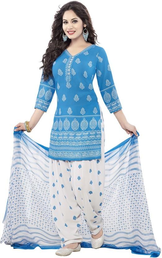Ishin Synthetic Printed Salwar Suit Dupatta Material