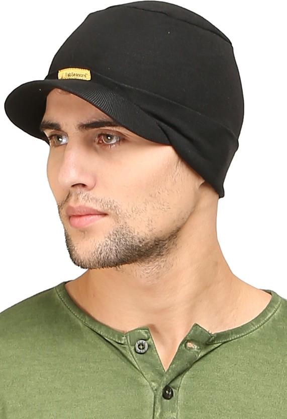 FabSeasons Solid Skull Cap Cap