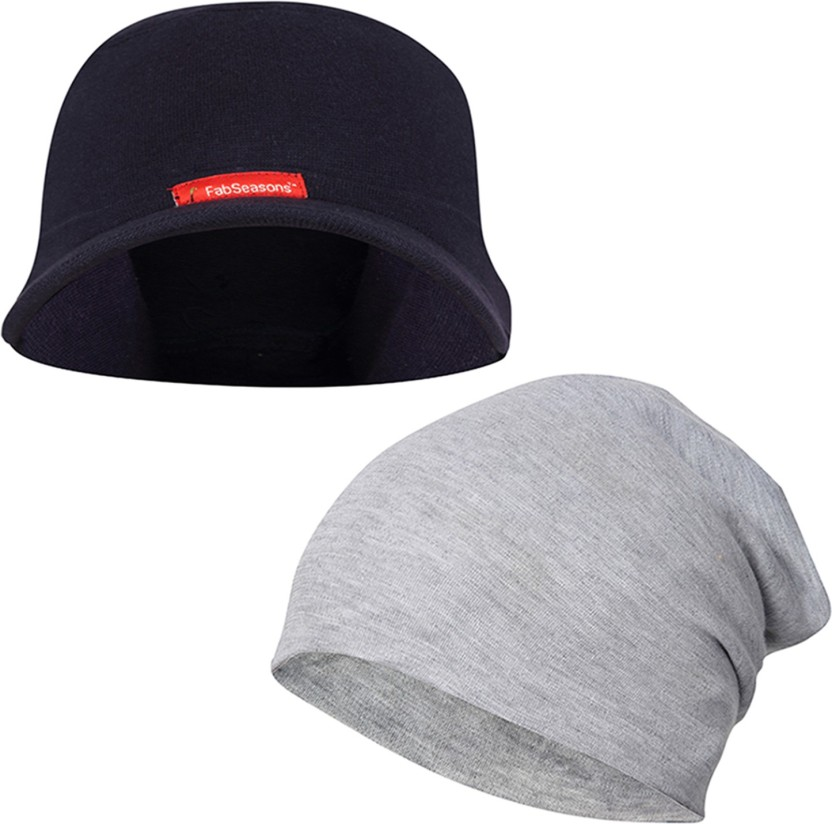 FabSeasons Solid Skull cap and Beanie Cap of Cotton Cap
