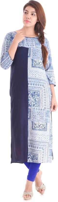 Mahaveer Fashion Geometric Print Women Straight Kurta