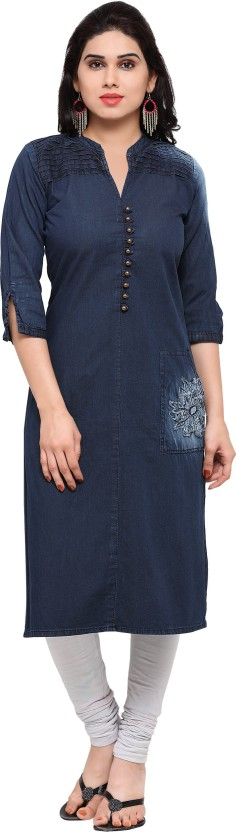 Kvsfab Self Design Women Straight Kurta
