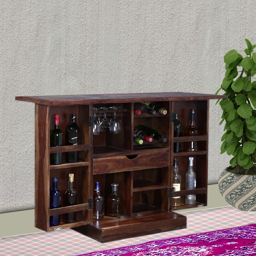 Vintej Home Solid Wood Bar Cabinet