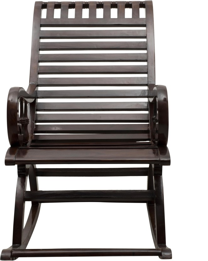 DZYN Furnitures Solid Wood 1 Seater Rocking Chairs