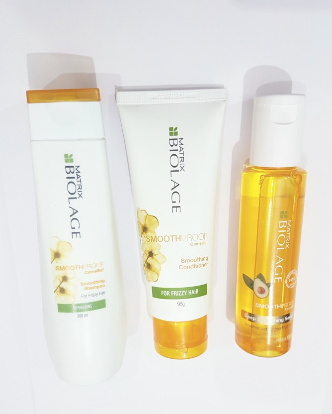 Matrix Biolage SmoothProof Smoothing Combo Of Shampoo Conditioner And Serum