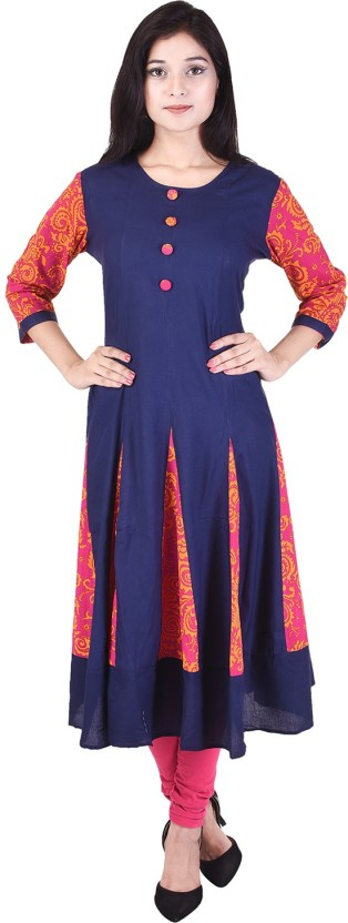 The Style Story Solid Women Anarkali Kurta