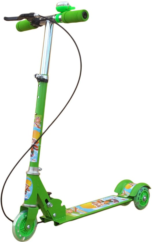 Toys Spot Skating Scooter Green With Brake and Bell