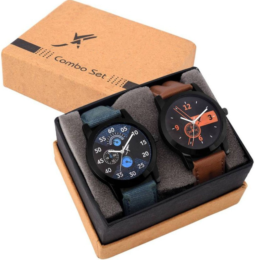 Fancy Set Of Two Combo Watch  - For Boys & Girls