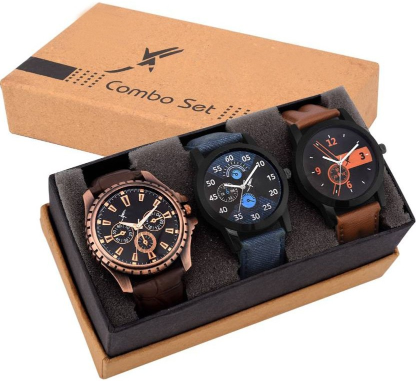 Fancy Combo Of Three Watches With Box Watch  - For Boys & Girls