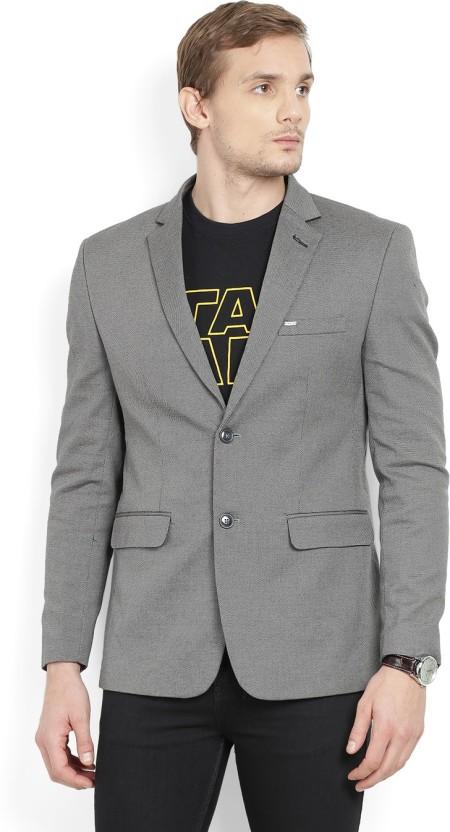 Numero Uno Solid Tuxedo Style Casual Men