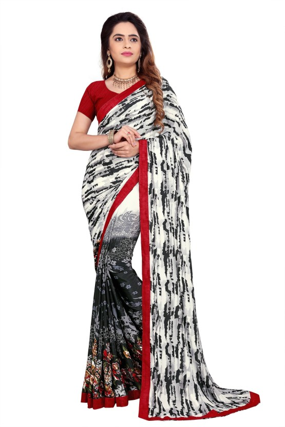 The Fashion Outlets Printed Bollywood Crepe, Silk Saree