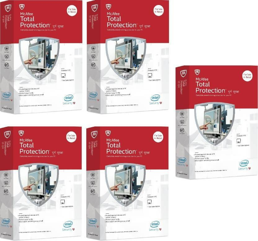 McAfee McAfee Total Protection 5 pc 1 Year