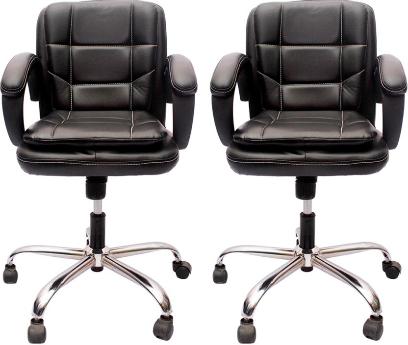 V J Interio Leatherette Office Executive Chair