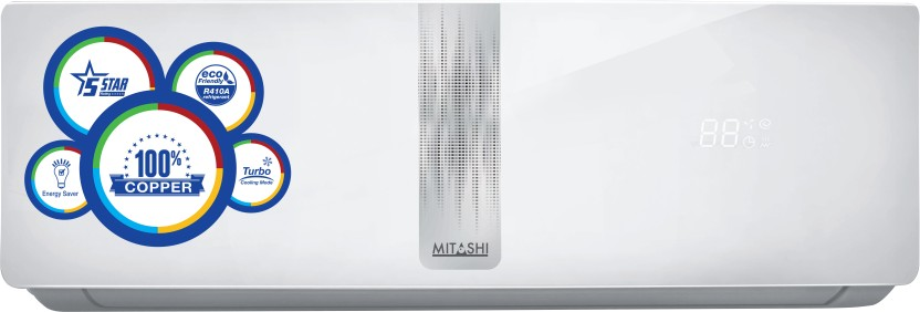 Mitashi 1 Ton 5 Star BEE Rating 2017 Split AC  - White