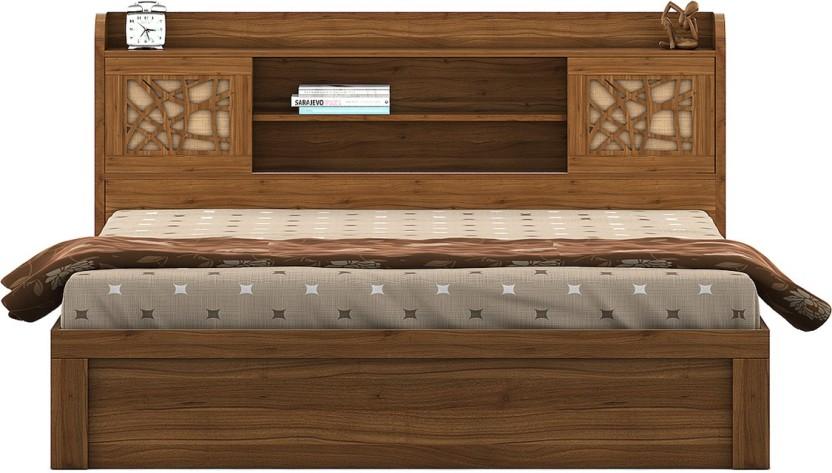 Spacewood Engineered Wood King Bed With Storage