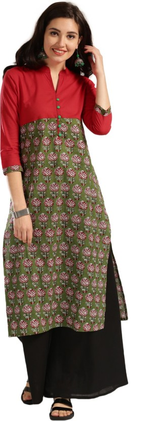 Anouk Printed Women Straight Kurta