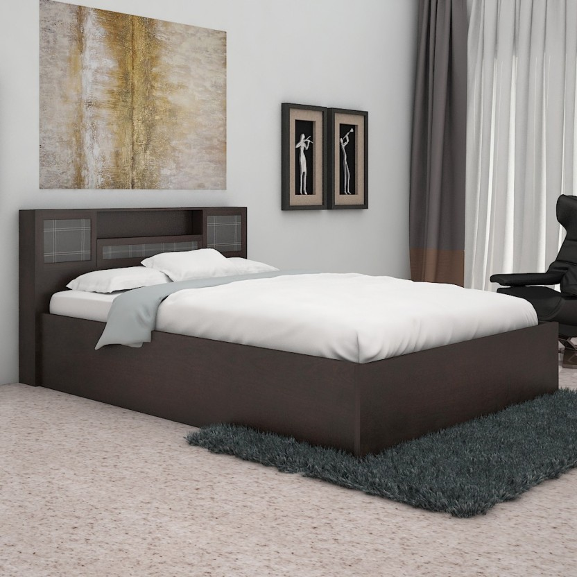 Nilkamal Monarch Engineered Wood Queen Bed With Storage