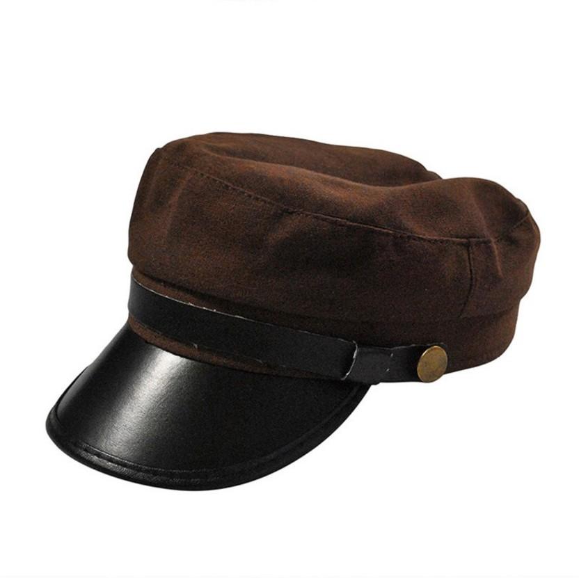 Friendskart Solid Self Design Leather Baseball Cap In Brown Colour For Mens And Womens Cap Cap