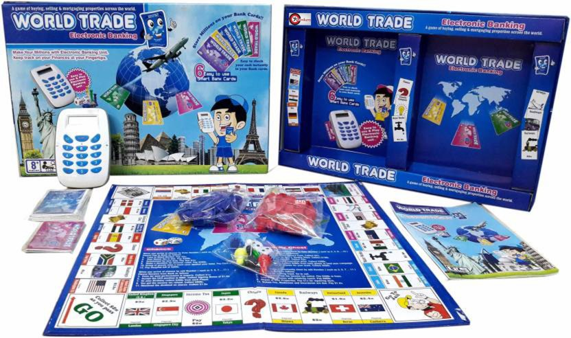 Bonkerz World Trade Property Trading Game With Electronic Banking and Swiping Machine Board Game