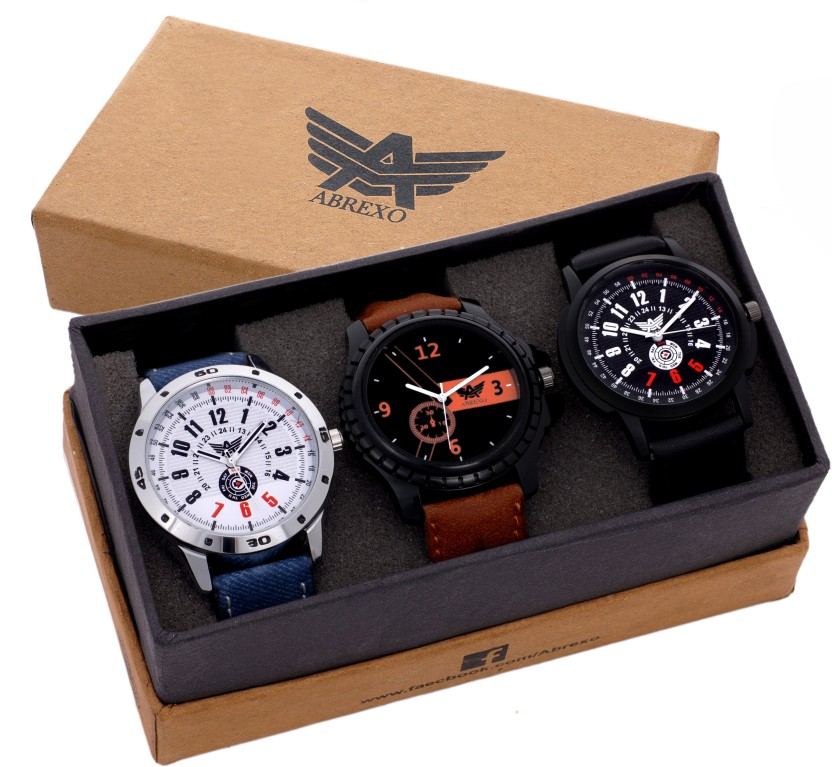 Abrexo Abx-8009 Gents Excluisve (Casual+Formal+Partywear) Chronograph Pattern Modish Watch  - For Men