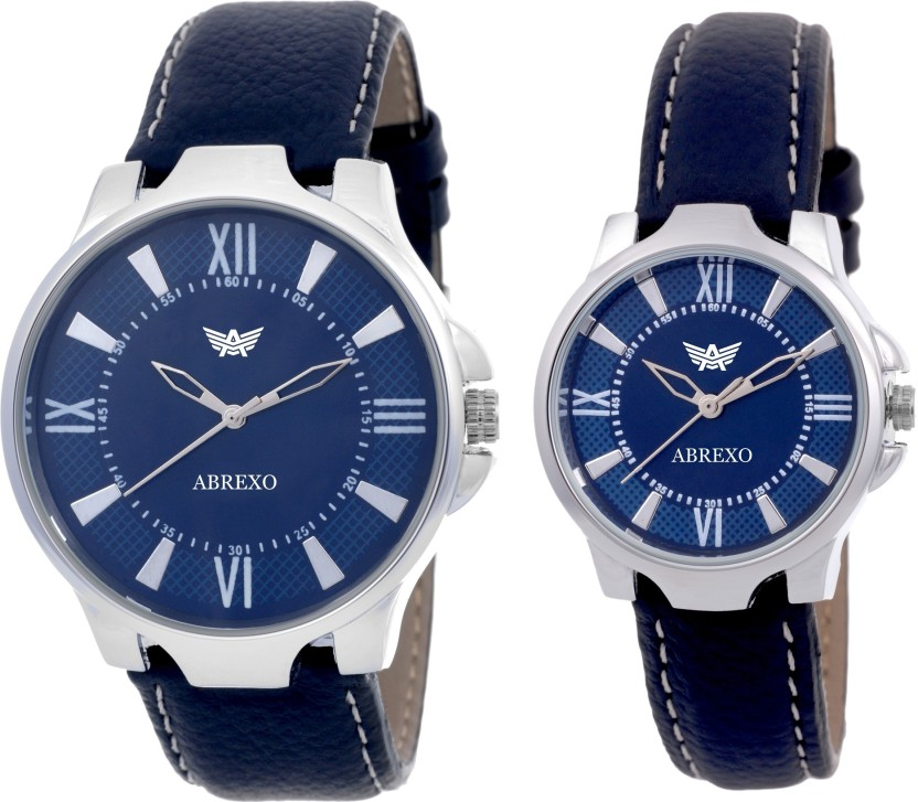 Abrexo Abx1165-Neavyblue Exclusive (Casual + Partywear+Formal) Designer Combo Watch  - For Men & Women