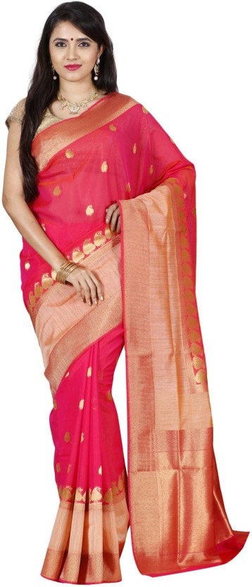 The Chennai Silks Paisley Fashion Raw Silk Saree