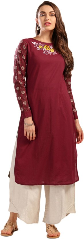 Anouk Self Design Women Straight Kurta