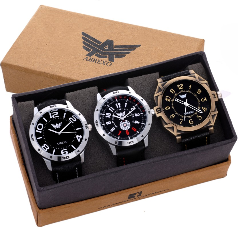 Abrexo Abx8012-Gents Exclusive New Tag Price Designer Combo Watch  - For Men