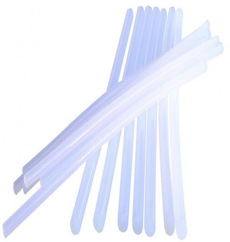 jai hanuman Ultra clear heavy gumming Hot melt Glue stick 8 inches-10 pieces - 210 g