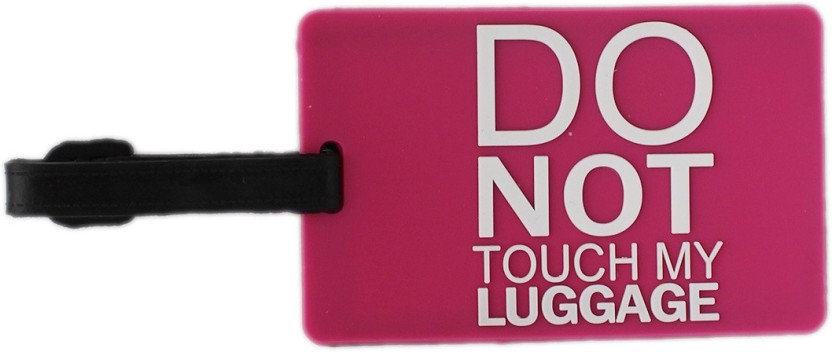 Tootpado Luggage Tag Do Not Touch My Luggage - Pink (LNTg223) Luggage Tag