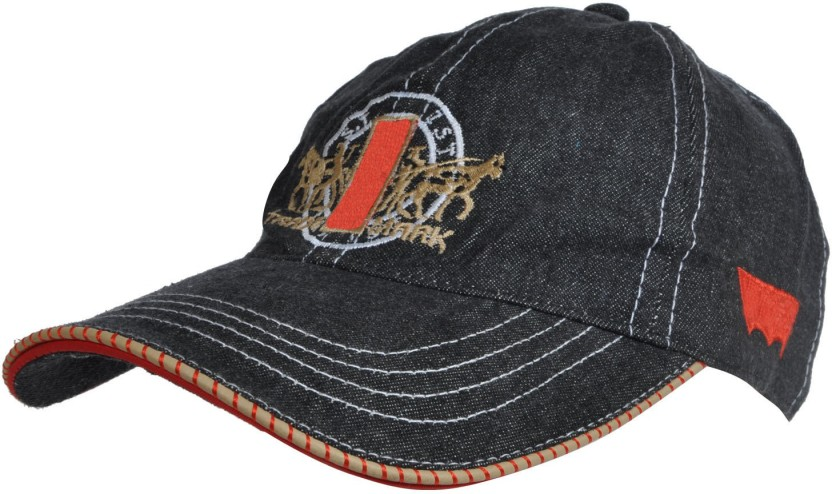 kaarq Embroidered, Solid LVS Black Denim Base Ball Men/Women Sports Cap