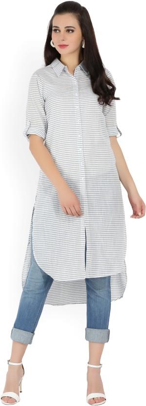 Melange by Lifestyle Striped Women Straight Kurta