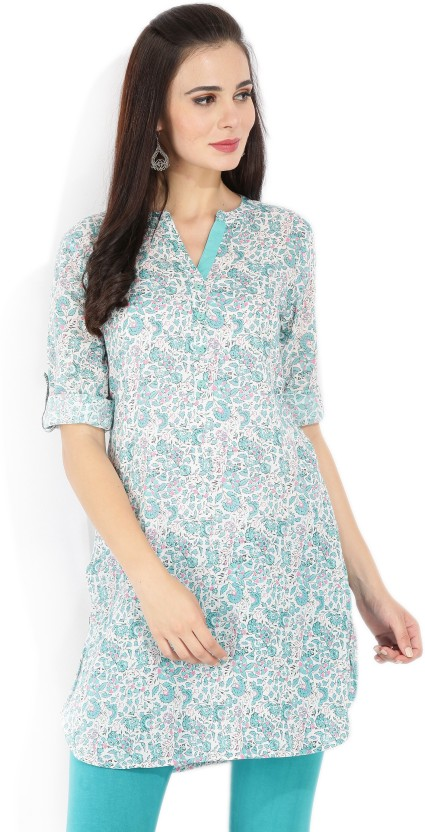 Melange by Lifestyle Floral Print Women Straight Kurta