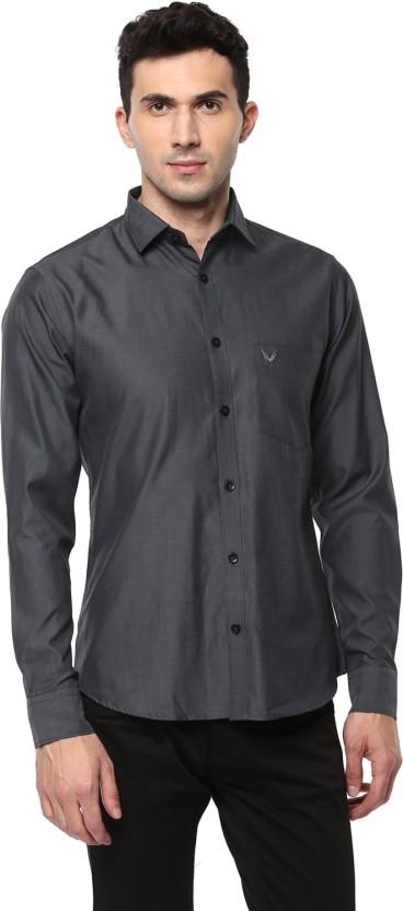 Yuvi Men Solid Casual Grey Shirt