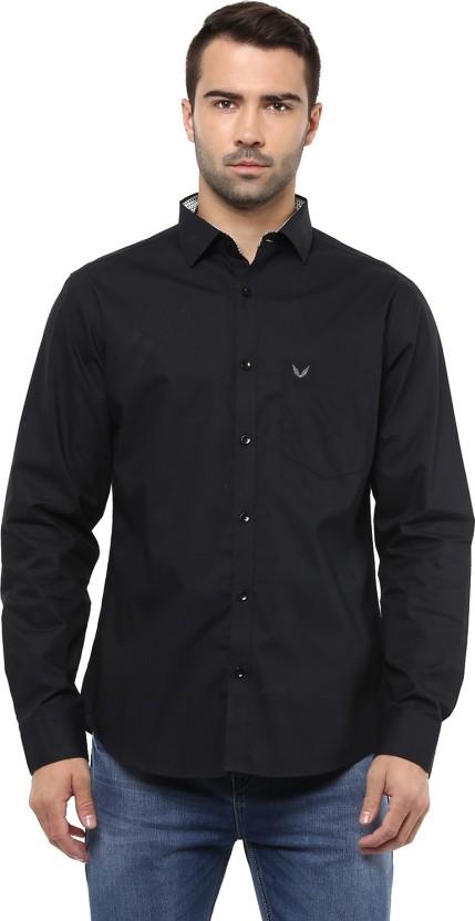 Yuvi Men Solid Casual Black Shirt