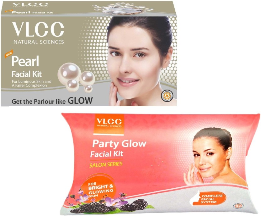 VLCC PEARL AND PARTY GLOW FACIAL KIT ( 60g each ) 120 g