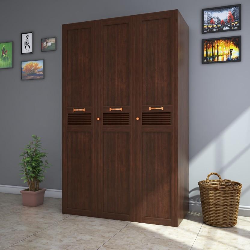 HomeTown Bali Engineered Wood 3 Door Almirah