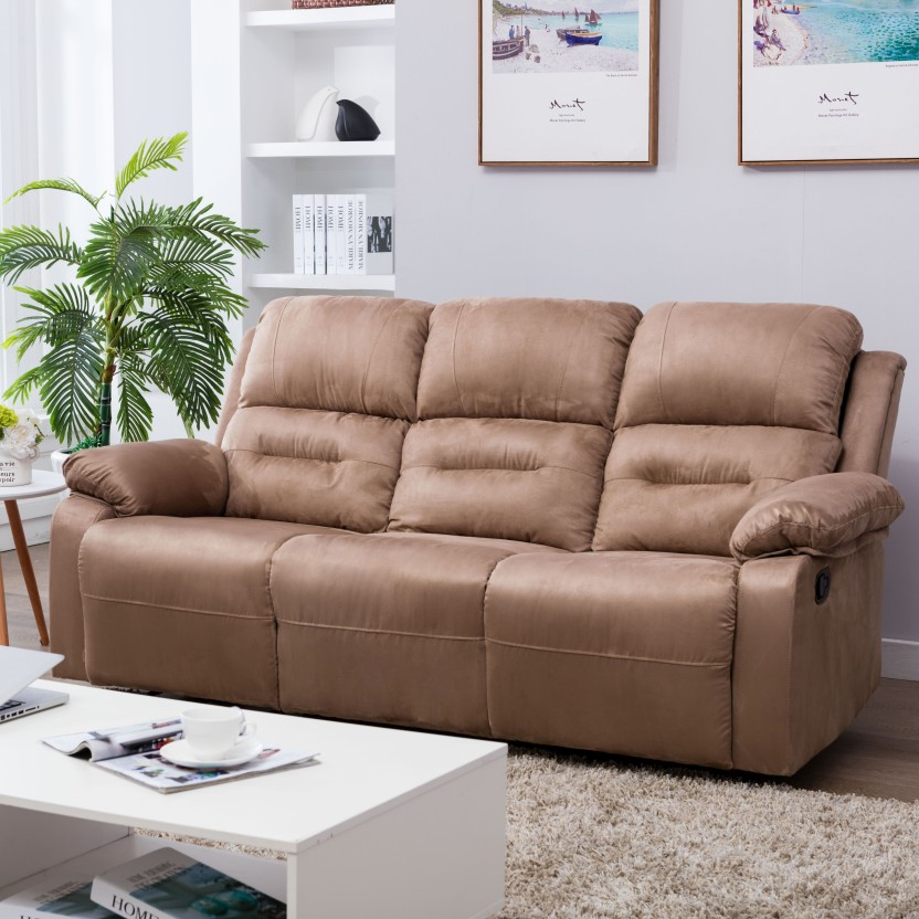 Perfect Homes by Flipkart Wayne Triple Seater Fabric Recliner