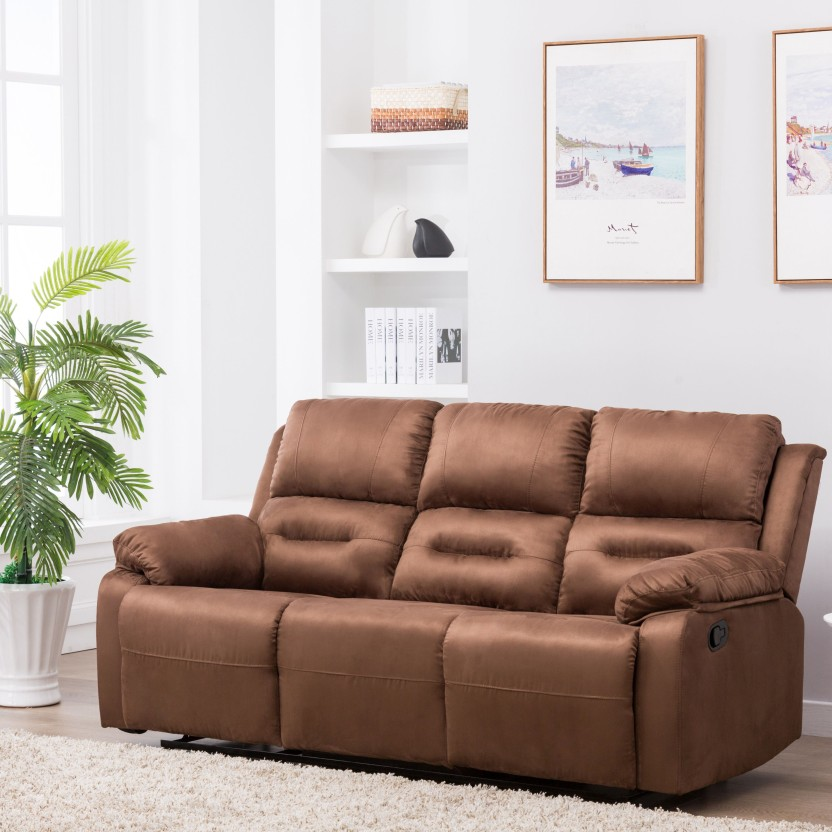 Perfect Homes by Flipkart Wayne 3 Seater Fabric Recliner