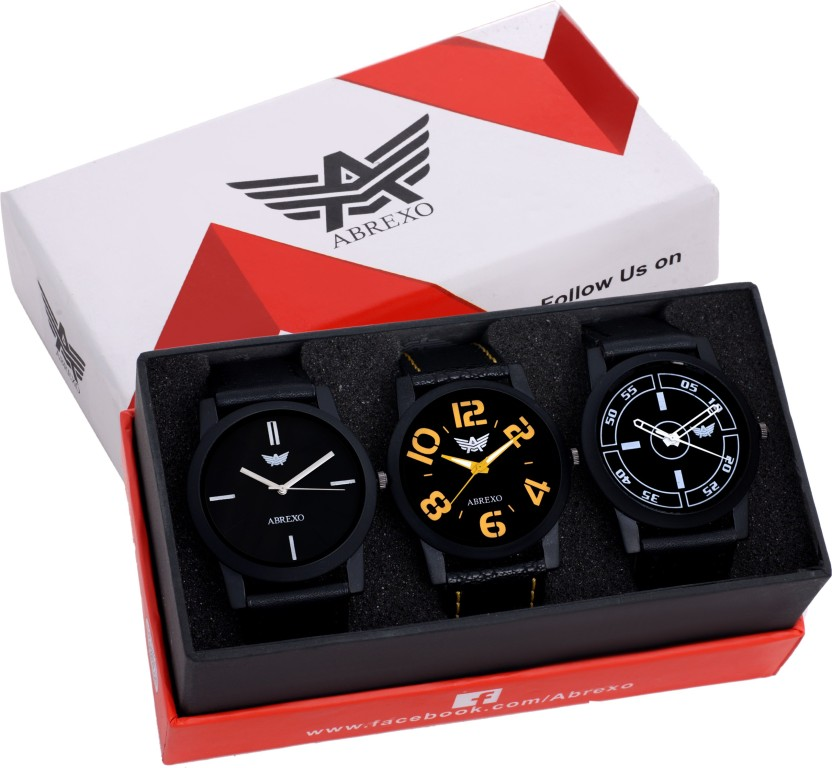 Abrexo Abx8018-Gents Exclusive Notable (Casual+PartyWear+Formal) Traffic Jam Series Watch  - For Men