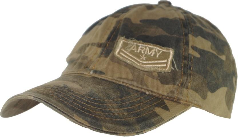 Atabz Solid Stylish Military style hat Cap