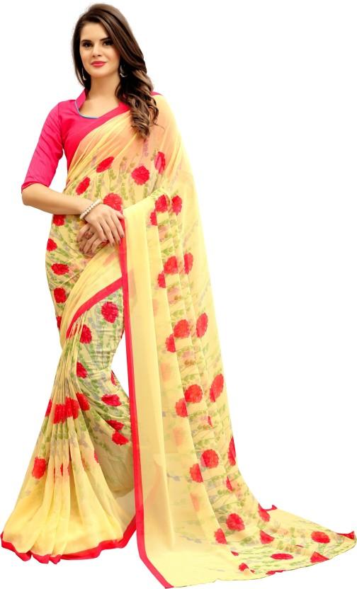 Navya Fashion Printed Daily Wear Georgette Saree