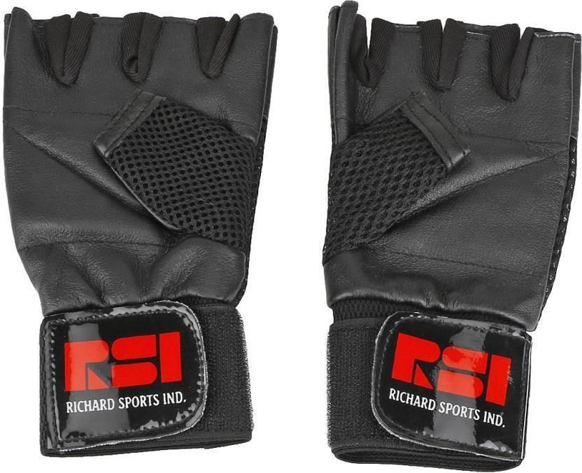 richard power Gym & Fitness Gloves (Men, Black)